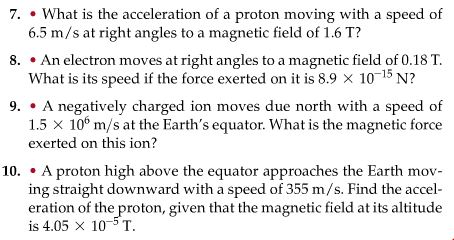 force on moving particle