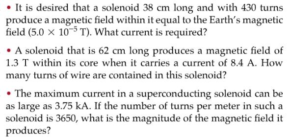 magnetic field solenoid