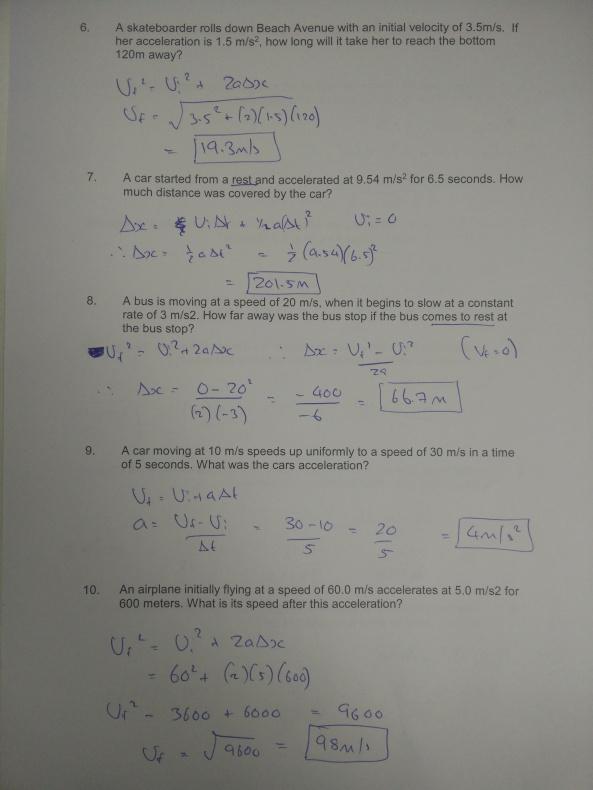 kinematics 1b