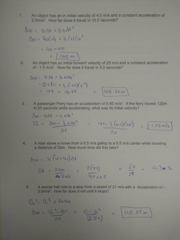 basic kinematics (2)